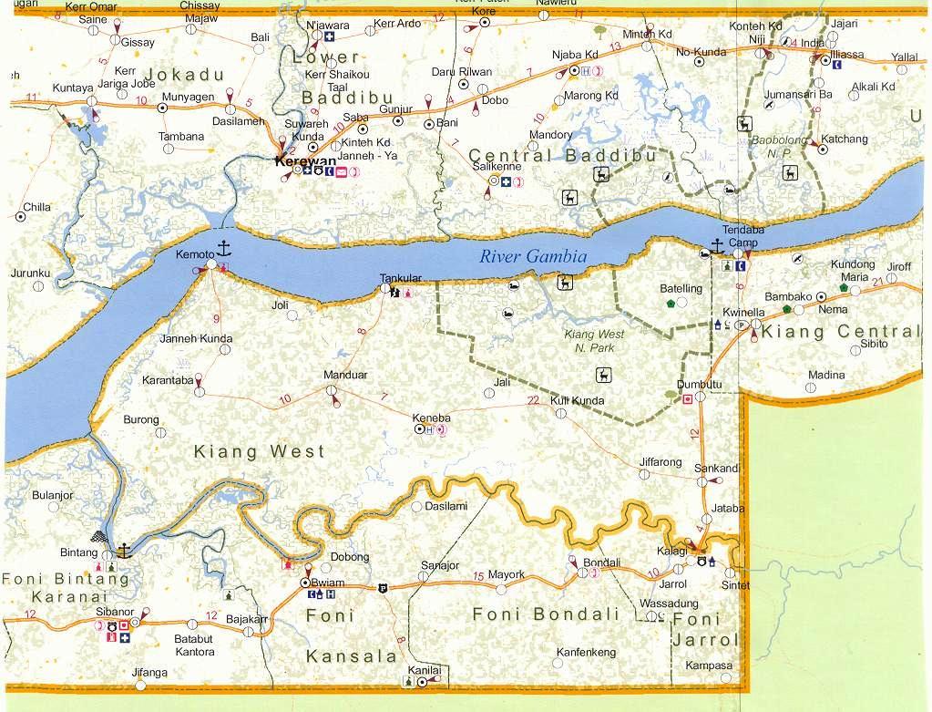 Kiang West Map Gambia - Gambia map