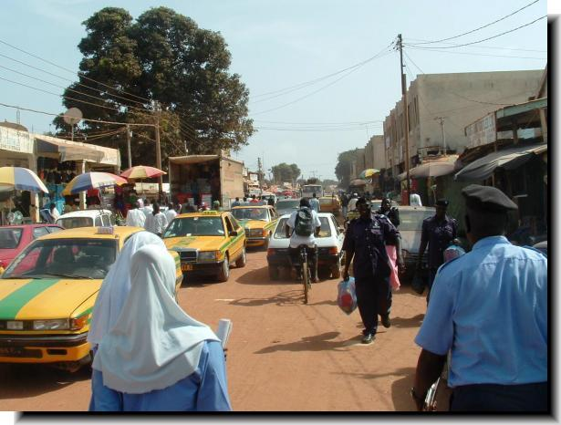 Gambia villages towns typical town scene sciox Choice Image