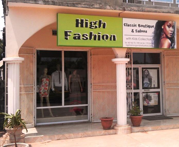 High Fashion Shop Kairaba Avenue Gambia